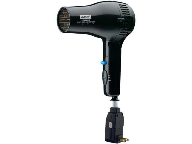 Hospitality Series 1875-Watt Ionic Cord-Keeper? Hair Dryer with Retractable Cord ? Black