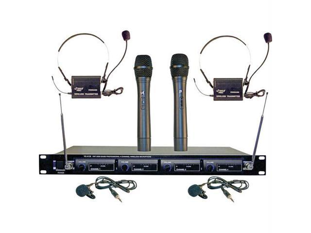 4 Microphone VHF Wireless System