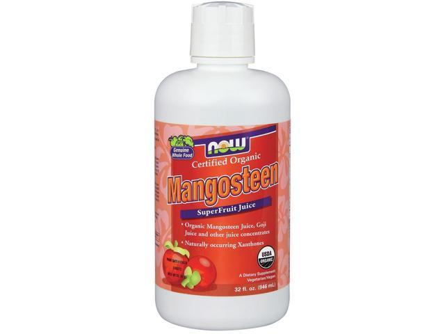 Organic Mangosteen Juice - Now Foods - 32 oz - Liquid