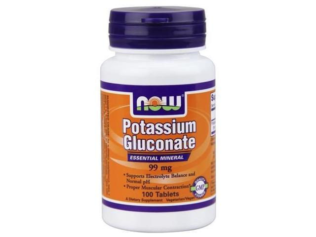 Potassium Gluconate - Now Foods - 100 - Tablet