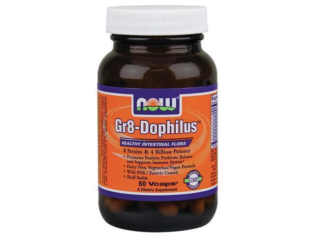 Gr 8 Dophilus - Enteric Coated - Now Foods - 60 - VegCap