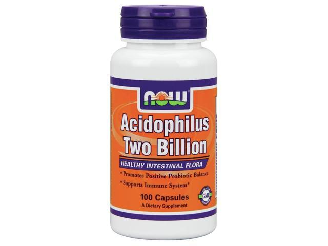 Acidophilus 2 Billion Milk Free - Now Foods - 100 - Capsule