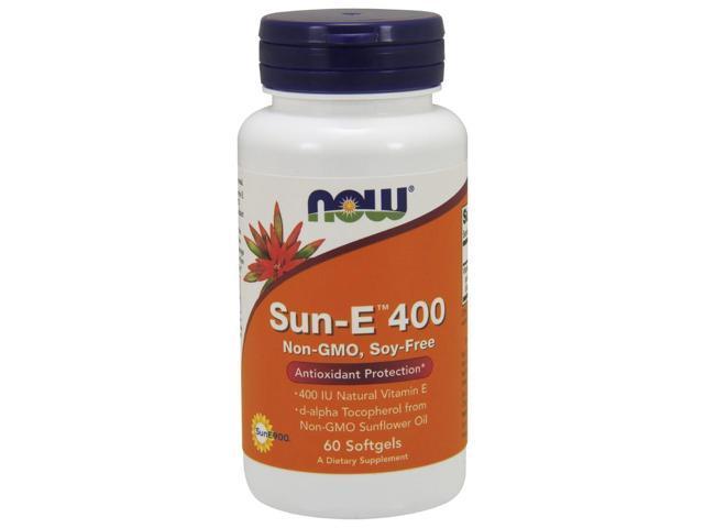 Sun-E 400 IU Softgels - Now Foods - 60 - Softgel