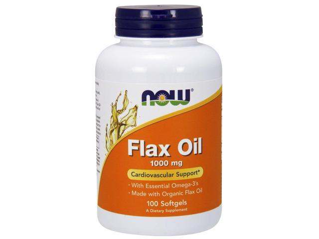 Flax Oil 1000 mg - 100 Softgels by NOW