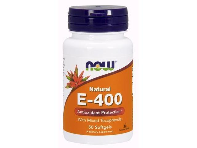 E-400 With Mixed Tocopherols - Now Foods - 50 - Softgel