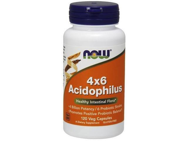 Acidophilus 4 Billion, 6 Strains Milk Free - Now Foods - 120 - Capsule