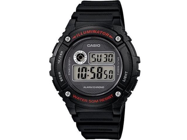 Casio W-216H-1AV Men's LED Light Chronograph Alarm Casual Digital Sports Watch