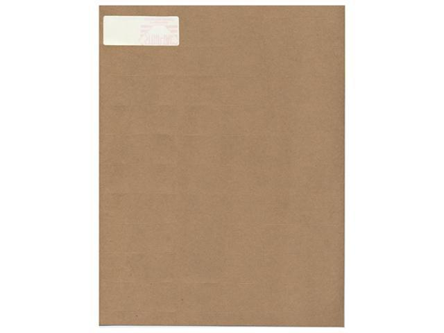 Brown Kraft Mailing Address Labels (2 5/8 x 1) - 30 labels per page / 120 labels total