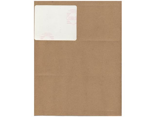 Brown Kraft Mailing Address Labels (4 x 3 1/3) - 6 labels per page / 120 labels total