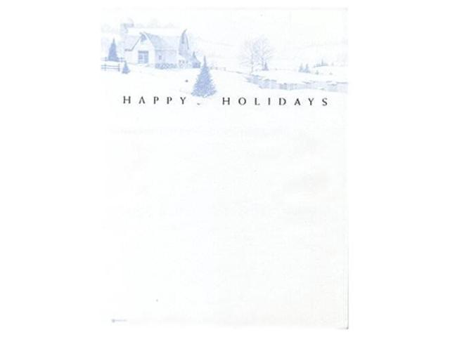 8 1/2 x 11 Festive Happy Holidays Winter Scene Paper - 100 sheets per pack