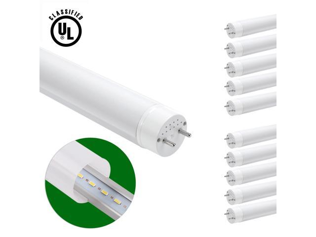 LE Brightest 18W 4 foot T8 LED Tube Lights, 60W Fluorescent Tube Replacement, Warm White, UL Approved, Pack of 10 Units