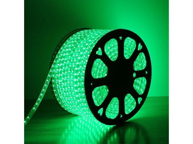 LE Lampux 110-120 V AC Flexible LED Strip Lights, LED Tape, Green, Waterproof, Super Bright 5050 LEDs, Light Strips, Pack of 51M