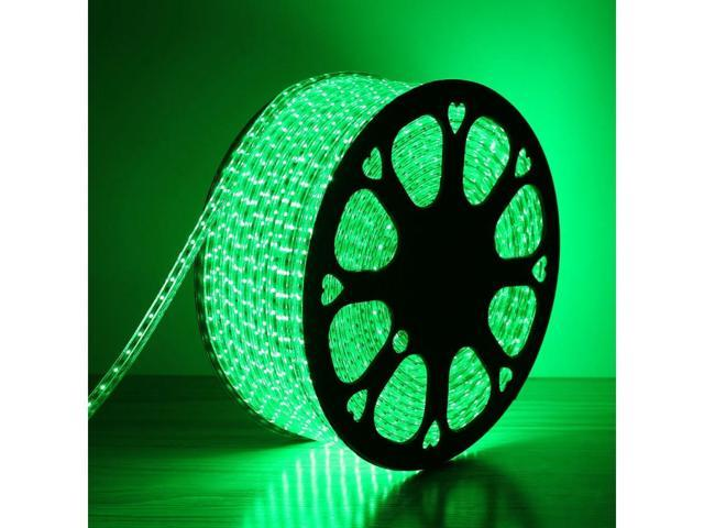 LE Lampux 110-120 V AC Flexible LED Strip Lights, LED Tape, Green, Waterproof, 3528 LEDs, Light Strips, Pack of 50M