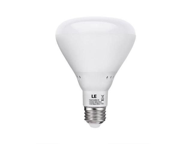 LE 11W Dimmable BR30 E26 LED Bulb, 60W Incandescent Bulbs Equivalent, 770lm, Warm White, 2700K, 110° Flood Beam, Recessed Light Bulbs