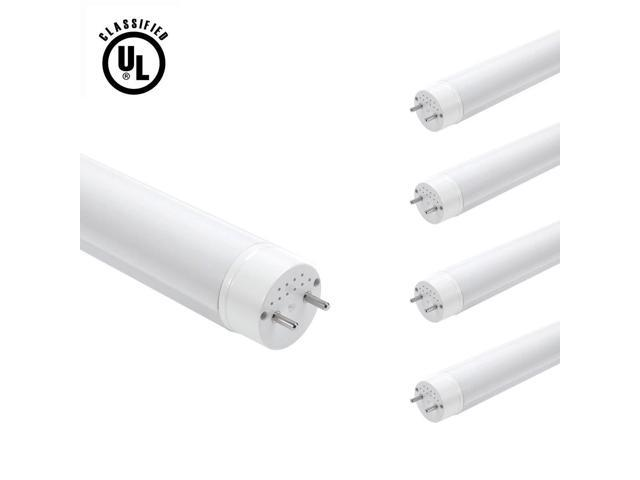 LE Brightest 18W 4 foot T8 LED Tube Lights, 60W Fluorescent Tube Replacement, Warm White, UL Approved, Pack of 4 Units