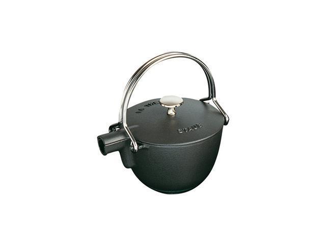 Staub Round Teapot/Kettle - 1QT - Black Matte