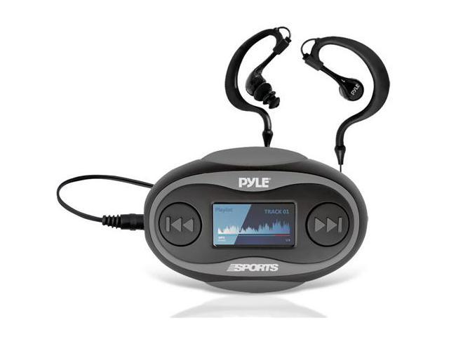 New Pyle PSWP25BK 4GB Waterproof MP3 Player/FM Radio with Pedometer, Lap Counter, Stop Watch, LCD Display and Included Waterproof Headphones ...