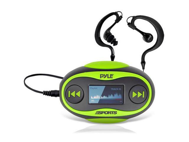 New Pyle PSWP25GR 4GB Waterproof MP3 Player/FM Radio with Pedometer, Lap Counter, Stop Watch, LCD Display and Included Waterproof Headphones ...