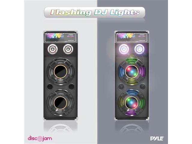 New Pyle PSUFM1040P 1000 Watts Disco Jam Passive Dual 10'' DJ Speaker System with Flashing DJ Lights (For Use With Model PSUFM1045A)