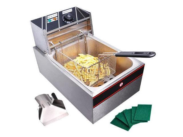 Commercial Stainless Steel Electric Countertop Deep Fryer