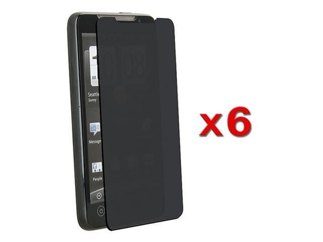 6 x Privacy Screen Filter compatible with HTC EVO 4G