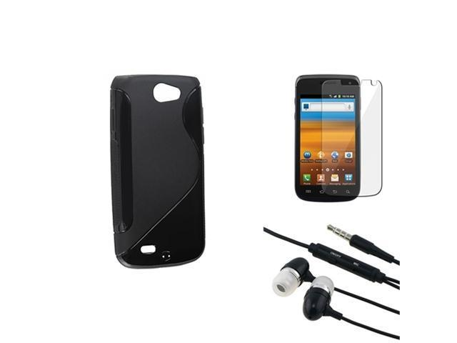 Black S Shape TPU Rubber Case+LCD Guard+Headphone compatible with Samsung© Exhibit 2 4G T679