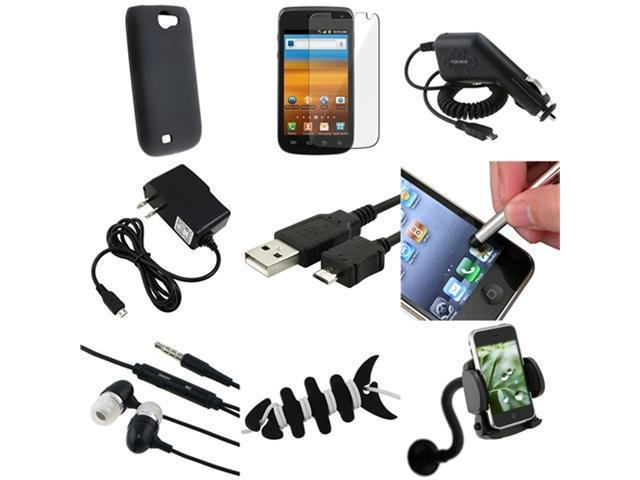 9in1 Black Gel Case+LCD+USB+Charger+Headset+Mount compatible with Samsung© Exhibit 2 4G T679
