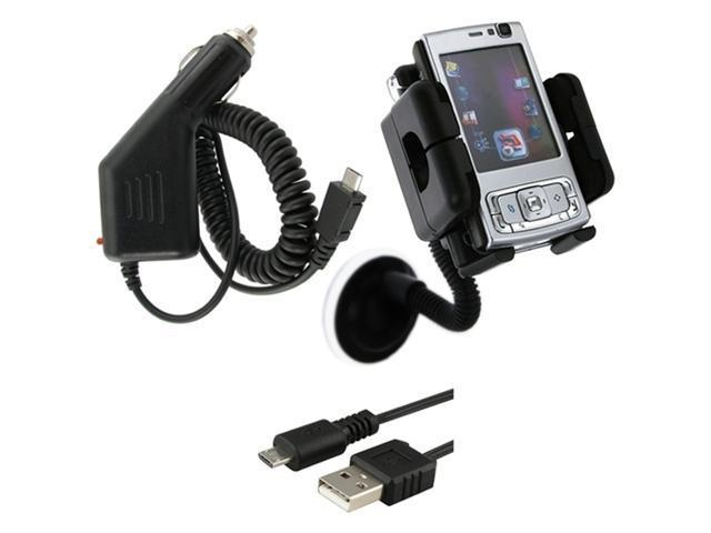 Cable+Mount+Car Charger compatible with HTC myTouch 4G 3G Slide HD2