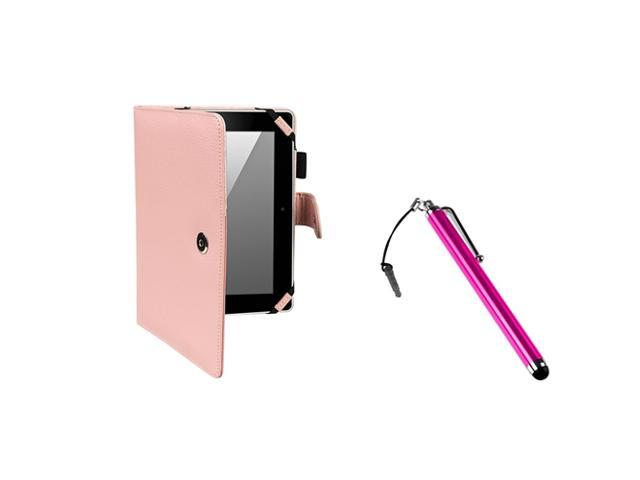 eForCity Pink Leather Case+ Pink Stylus compatible with mazon Kindle Fire HD 8.9-inch