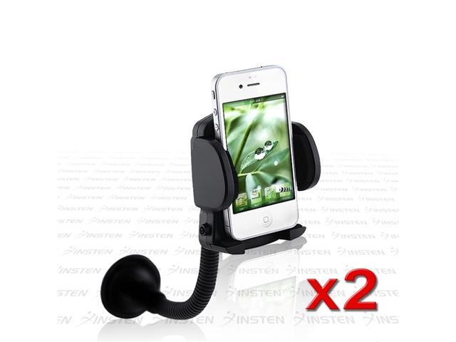 2x Black INSTEN Car Windshield Holder PDA Mount compatible with iPod touch® 3rd 4th 3 4 G