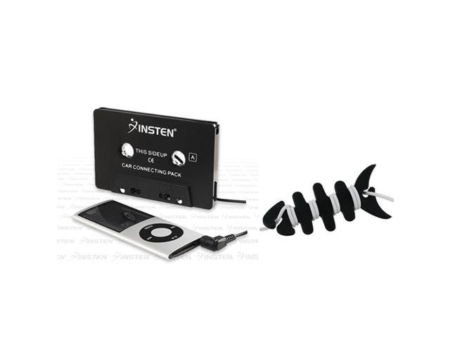 eForCity Black Headset Smart Wrap+Black Universal Car Audio Cassette Adapter Compatible With iPad 2nd/3rd Generation