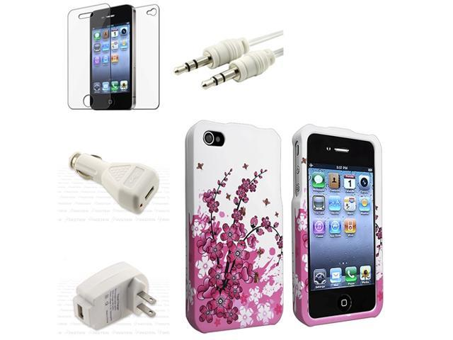 Case+Film+Cable+2 USB INSTEN Charger for iPhone® 4 4S 4G 4GS G 4TH
