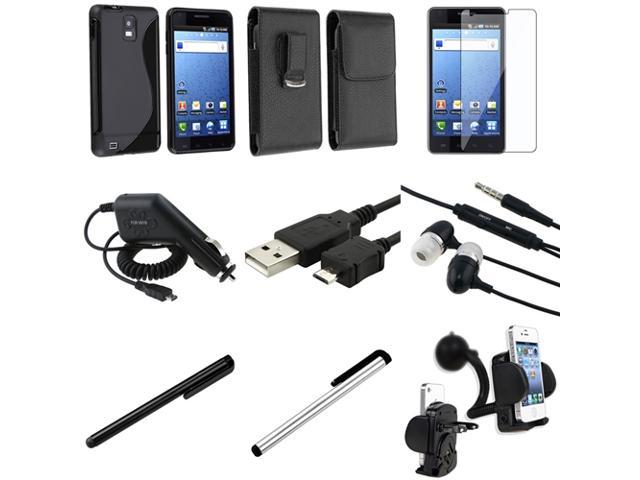 2 Case+LCD SP+Charger+USB+2 Stylus+Headset+Mount compatible with Samsung© Infuse 4G SGH-i997