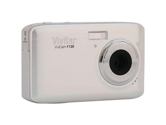 Vivitar ViviCam F128 VF128-SIL Silver 14.1 MP Digital Camera