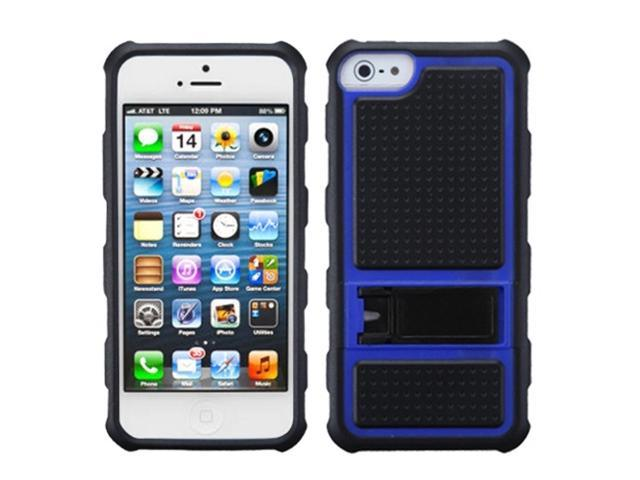 MYBAT Gummy Armor Stand compatible with Apple® iPhone 5 5S, Dark Blue