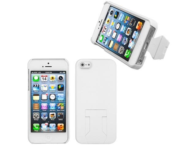 MYBAT Back Protector Case/With Stand compatible with Apple® iPhone 5 5S, White