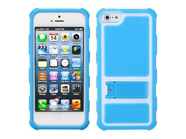 MYBAT Gummy Armor Stand compatible with Apple® iPhone 5 5S, Baby Blue