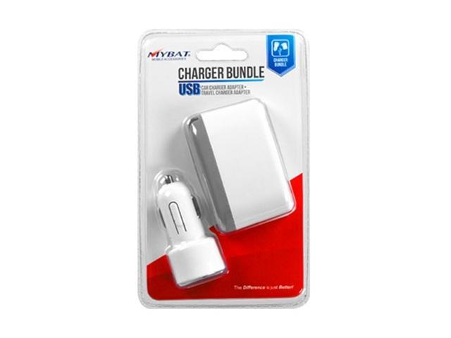 MYBAT Car Charger Adapter and Travel Charger Adapter for Apple iPhone, BlackBerry, HTC, Samsung Galaxy S II, LG Optimus / myTouch (Retail Package)