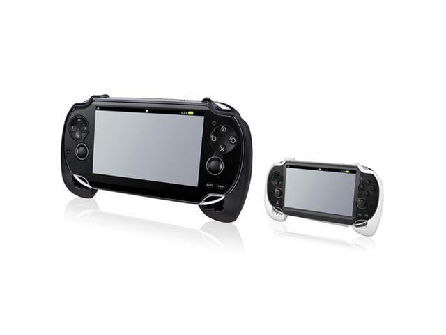 2-Pack Hard plastic with rubber coating Hand Grip: Black, White compatible with Sony PlayStation Vita