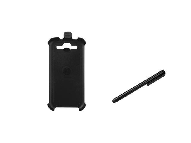 eForCity Black Hard Case Holster + Black Mini Stylus compatible with Samsung© Galaxy S3 i9300