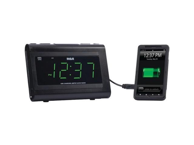 RCA Dual Wake USB Charging Clock Radio RC142