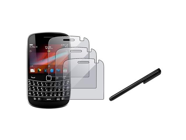 eForCity Premium 3 Screen Protector Cover + Black Stylus For Blackberry Bold 9930 9900