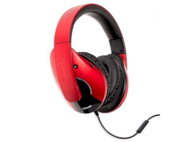 Syba Oblanc Cobra200 OG-AUD63072 Stereo Headphones with In-Line Microphone & Call Control (Red)