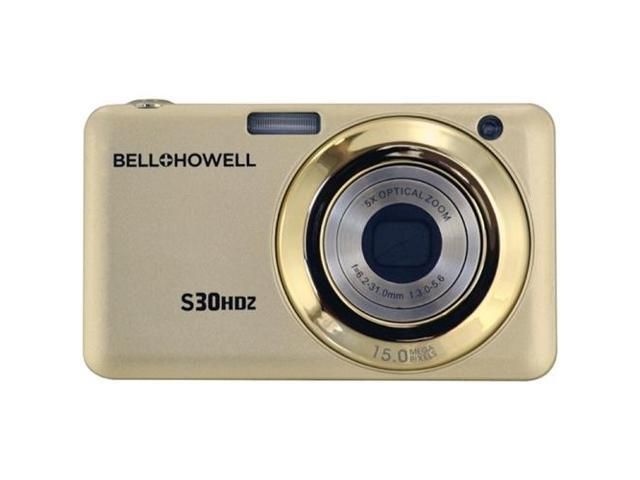 BELL+HOWELL S30HDZ-C 15.0 Megapixel S30HDZ Slim Digital Camera with 5x Optical Zoom ,Champagne