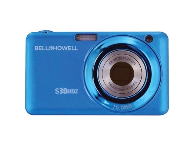 BELL+HOWELL S30HDZ-BL 15.0 Megapixel S30HDZ Slim Digital Camera with 5x Optical Zoom ,Blue