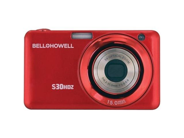 BELL+HOWELL S30HDZ-R 15.0 Megapixel S30HDZ Slim Digital Camera with 5x Optical Zoom ,Red