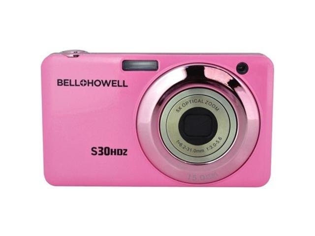 BELL+HOWELL S30HDZ-PK 15.0 Megapixel S30HDZ Slim Digital Camera with 5x Optical Zoom ,Pink