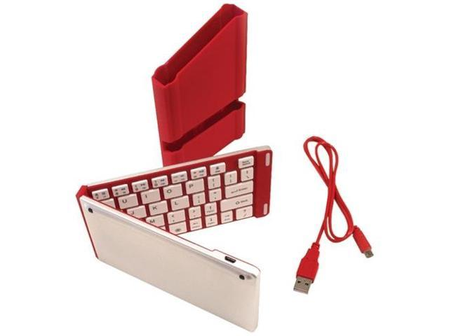 Iwerkz 44652Rdr Universal Foldable Bluetooth Keyboard ,Red