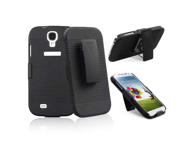 eForCity Swivel Holster with Stand Compatible With Samsung© Galaxy S IV / S4 i9500, Black