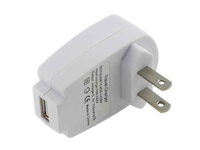 eForCity Universal USB Travel Charger Adapter, White